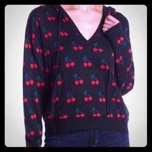 NWT Honey Punch cherry print hoodie